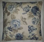 "Cushion Cover in Clarke and Clarke Genevieve Roses Chambray 14"" 16"" 18"" 20"""